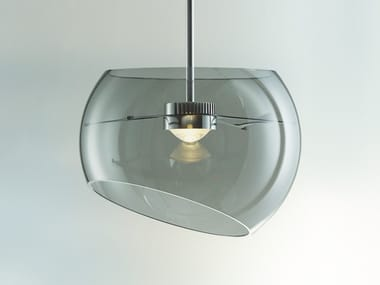 LED blown glass pendant lamp BIG MOONS