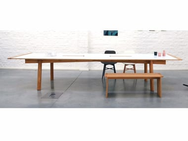Rectangular wooden table BIGFIX | Table