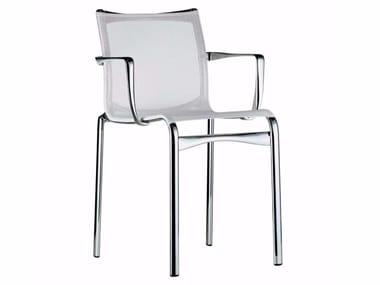 Cadeira empilhável de rede com braços BIGFRAME - 440