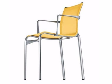 Stackable mesh chair with armrests BIGFRAME - 440_O