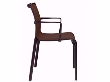 Stackable chair with armrests BIGFRAME COLORS - 440_C