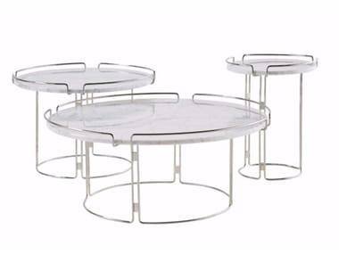 Round marble coffee table BIJOU