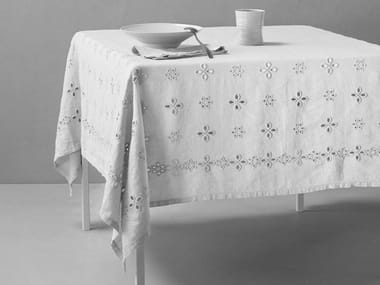 Embroidered linen table cloth BIJOU   Tablecloth