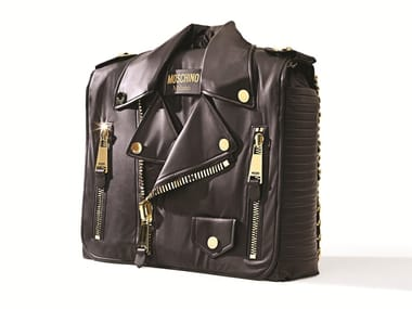 Imitation leather storage unit BIKER CABINET