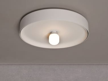 Direct-indirect light metal ceiling lamp BIKINI