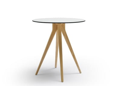 Round HPL table BILLY