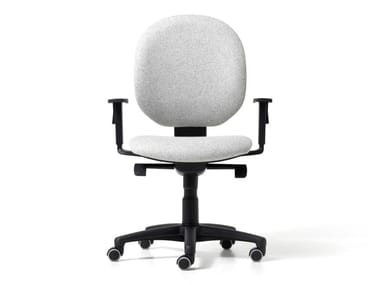 Fabric office chair with 5-Spoke base with armrests BINGO | Office chair with armrests