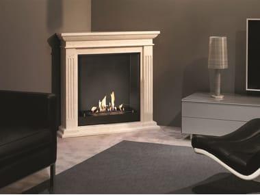 Corner bioethanol vent free metal fireplace BIO CADIZ CORNER SUITE