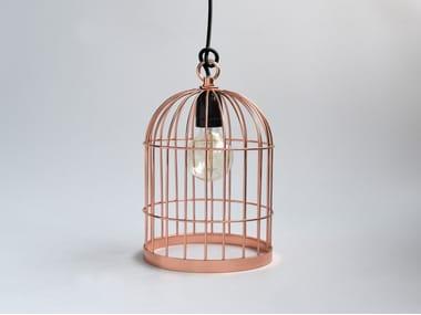 Lampada a sospensione / lampada da tavolo in metallo BIRD CAGE COPPER CABLE BLACK