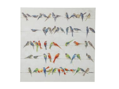 Stampa su tela BIRD MEETING 100x100
