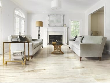 Porcelain stoneware flooring with marble effect BISTROT | Flooring