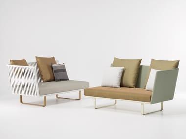 2 seater modular fabric garden sofa BITTA   2 seater garden sofa