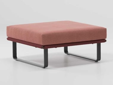 Square fabric garden footstool BITTA | Garden footstool