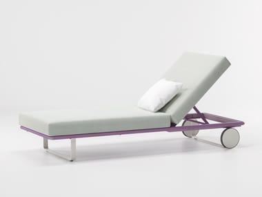 Espreguiçadeira de jardim reclinável BITTA | Espreguiçadeira de jardim reclinável