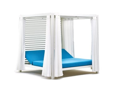 Double canopy powder coated aluminium garden bed BIVACCO | Garden bed
