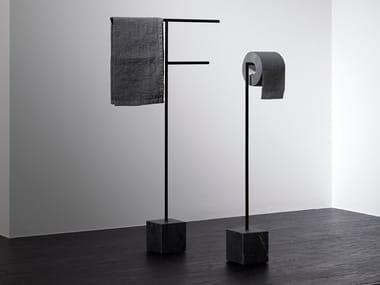 Toilet roll holder / towel rack BIVIO
