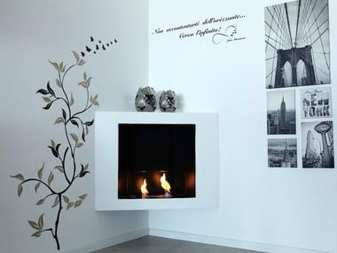 Corner built-in bioethanol fireplace BKANOVA