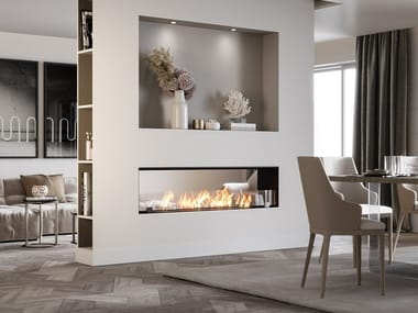 Double-sided built-in bioethanol fireplace BKBF-B