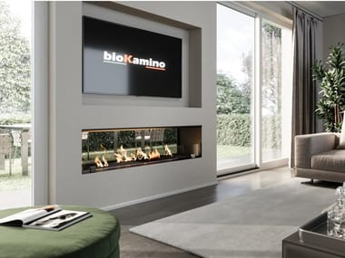 Double-sided built-in bioethanol fireplace BKBF-BVF