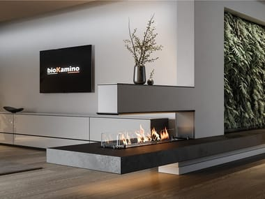 3-sided built-in bioethanol fireplace BKBF-T