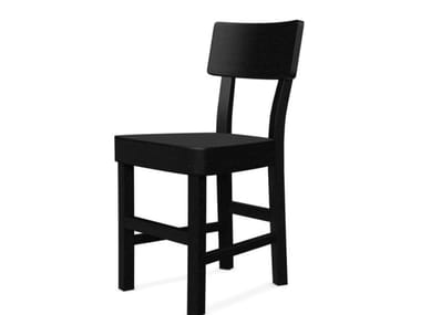 Open back beech chair BLACK 123R