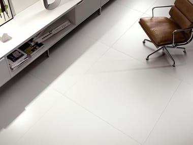 Pavimento/rivestimento ultrasottile in gres laminato BLACK-WHITE - ULTRAWHITE
