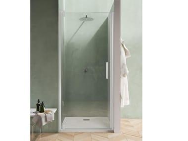 Box doccia a nicchia con porta pivotante BLACKBERRY QF