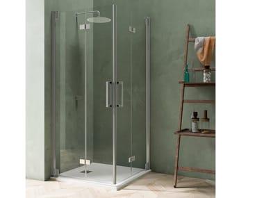 Box doccia angolare con porta a soffietto BLACKBERRY QM+QM