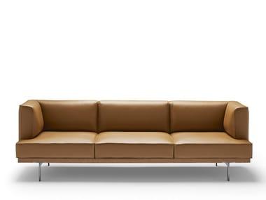 Modular leather sofa BLACKTONE | Leather sofa