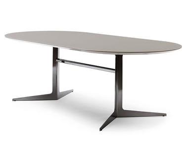 Tavolo da pranzo ovale in MDF BLAKE | Tavolo in MDF