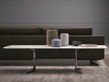 Rectangular marble coffee table BLAKE | Rectangular coffee table
