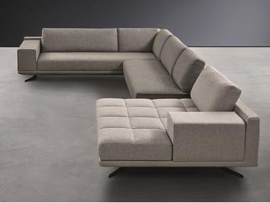 Divano angolare componibile in tessuto con chaise longue BLAKE | Divano componibile