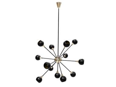Lampada da soffitto alogena in ottone BLAKEY