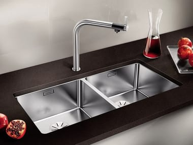 2 bowl undermount stainless steel sink BLANCO ANDANO 400/400-U