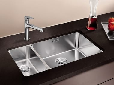 1 1/2 bowl undermount stainless steel sink BLANCO ANDANO 500/180-U