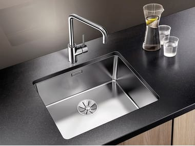 Contemporary style single built-in undermount stainless steel sink BLANCO ANDANO 500-U