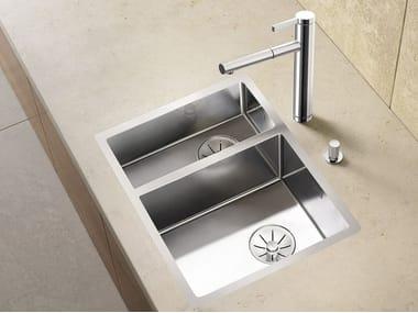 1 1/2 bowl flush-mounted stainless steel sink BLANCO CLARON 340/180-IF
