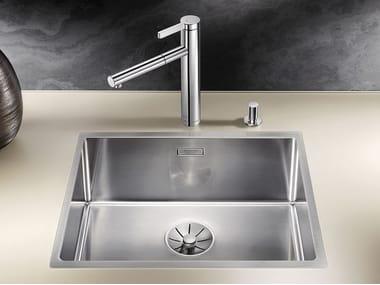 Single flush-mounted stainless steel sink BLANCO CLARON 500-IF