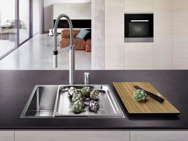 Single flush-mounted stainless steel sink BLANCO CLARON XL 60-IF