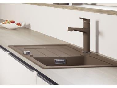 Grifo de cocina mezclador de acero inoxidable con ducha desmontable BLANCO FELISA-S