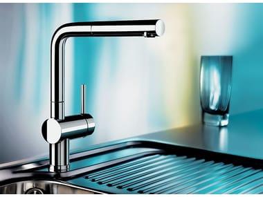 Grifo de cocina mezclador cromado con ducha con ducha desmontable BLANCO LINUS-S