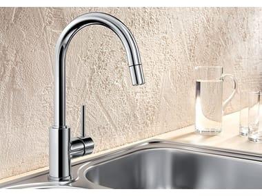 Grifo de cocina mezclador con ducha con ducha desmontable BLANCO MIDA-S