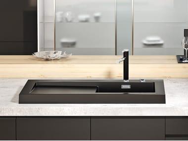 Countertop Silgranit® sink with drainer BLANCO MODEX-M 60