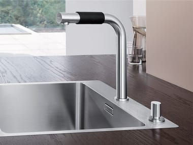 2 hole stainless steel kitchen mixer tap BLANCO SAGA