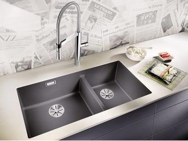2 bowl built-in Silgranit® sink BLANCO SUBLINE 480/320-U