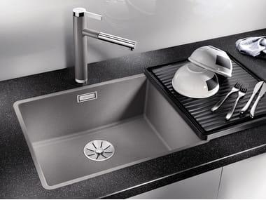 Single flush-mounted Silgranit® sink BLANCO SUBLINE 500 F