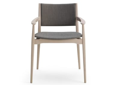 Upholstered fabric easy chair with armrests BLAZER | Fabric easy chair