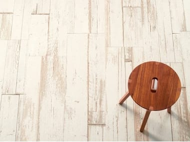 Porcelain stoneware wall/floor tiles with wood effect BLENDART WHITE