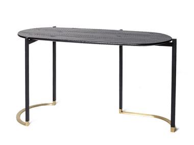 Mesa consolas oval de madeira BLINK | Mesa consolas
