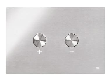 Stainless steel flush plate BLINK